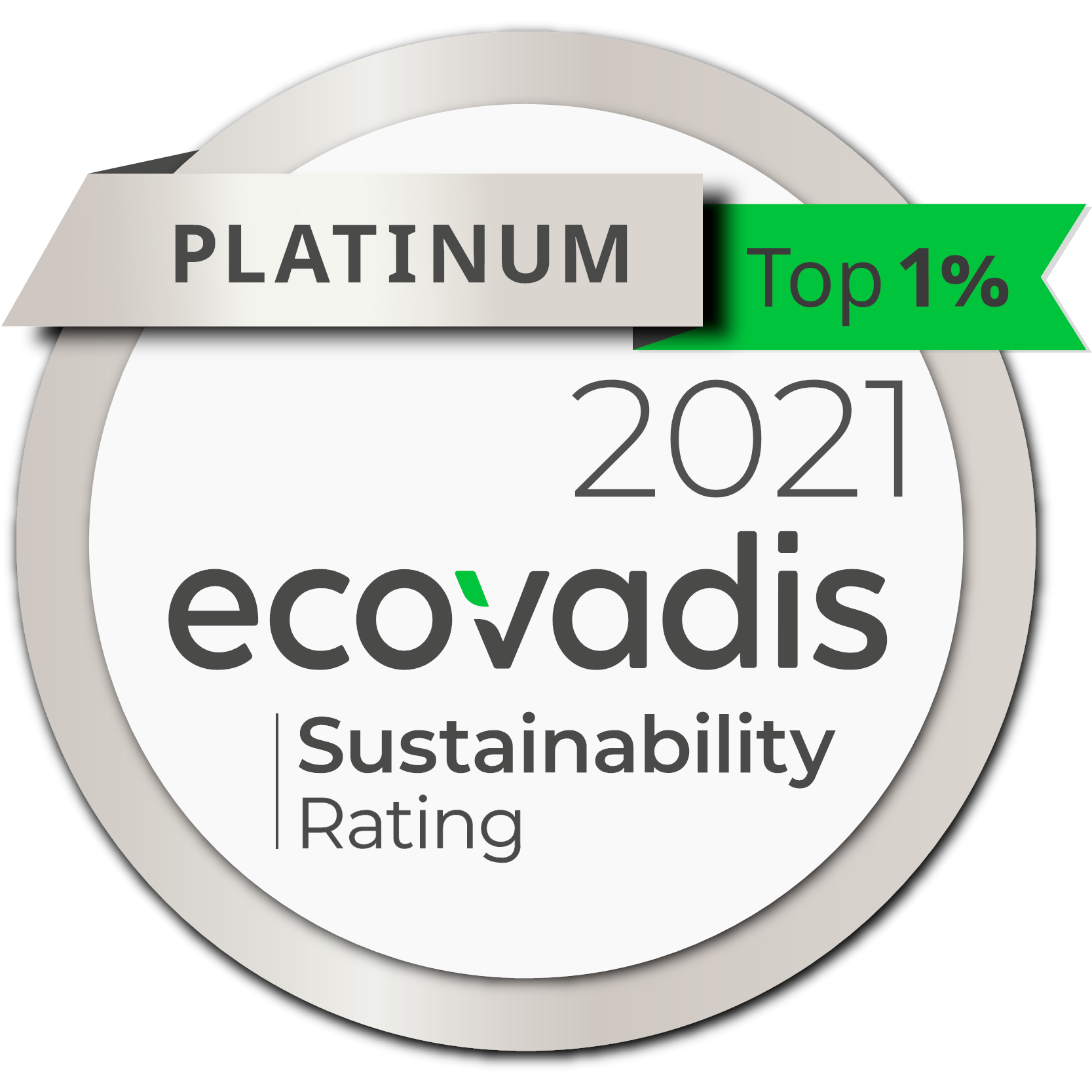 Ecovadis Platinum 2021