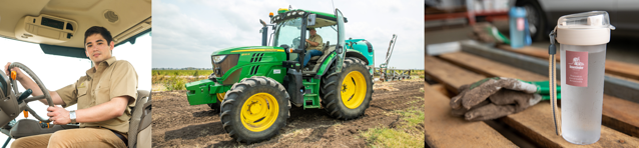 collage DUE farm tractor 2019